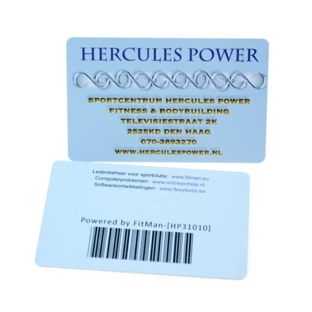 Une carte de membre avec son code-barres