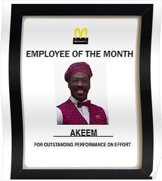 L'employé du mois;)