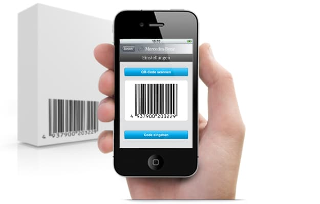 scan barcode on iphone lire un code barres avec smartphone et openflex 5454