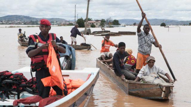 Evacuation de sinistrés
