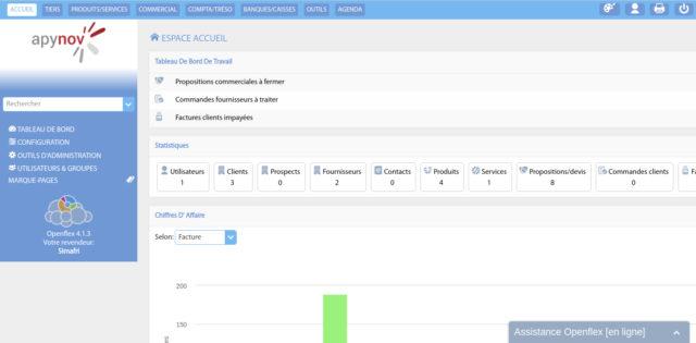 Capture d'écran Openflex