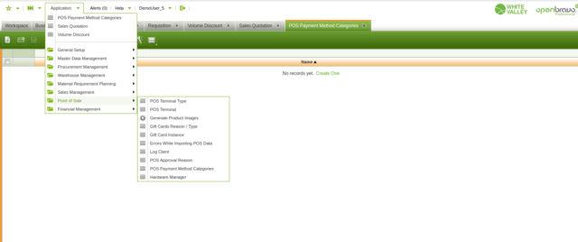 Capture d'écran Openbravo