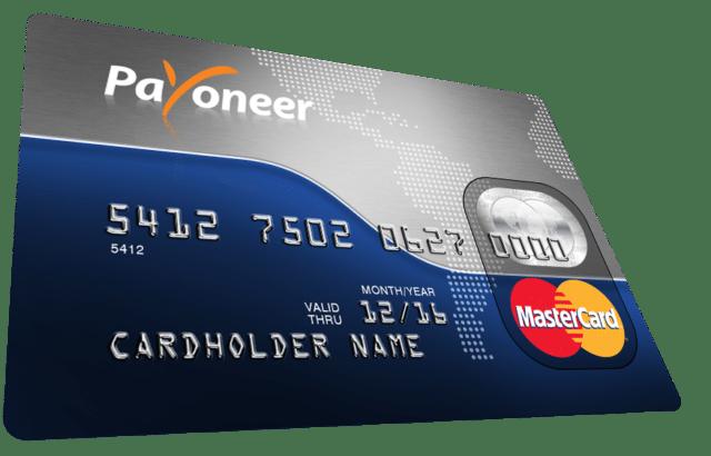 Voici la Mastercard Payoneer