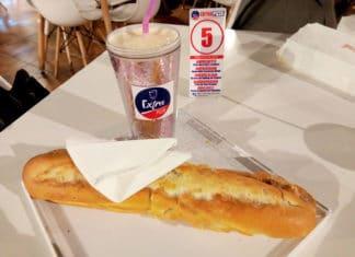 Mon sandwich Tasty et mon milkshake