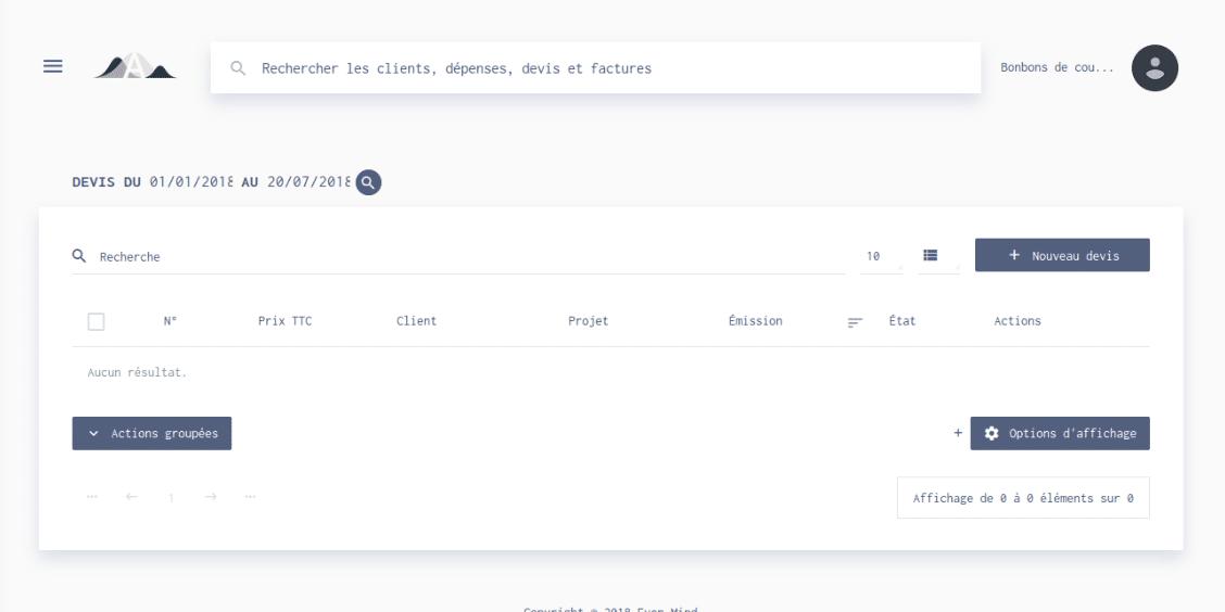 Comment créer un devis sur Algorithme.io