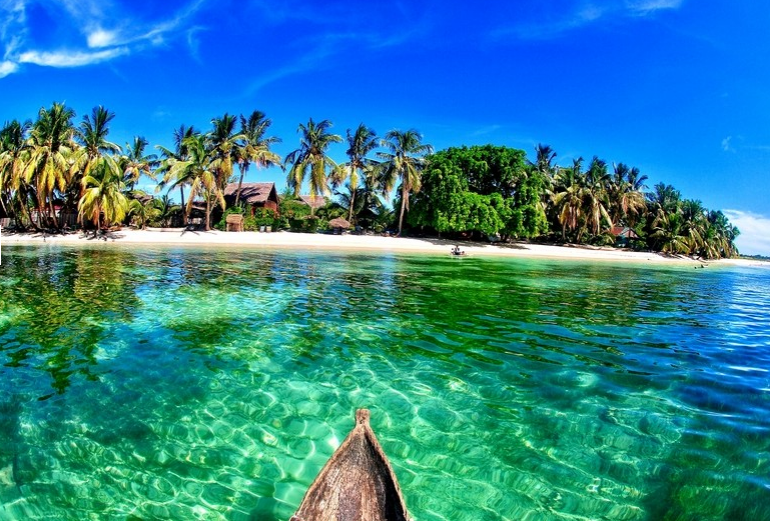 La beauté de la plage malgache