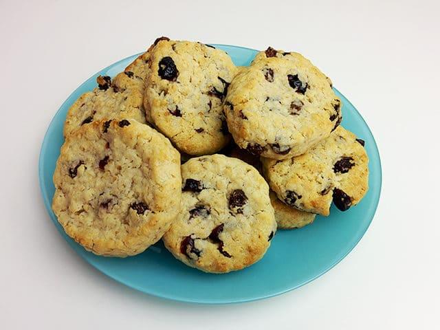 Les cookies aux flocons d'avoine et raisins secs