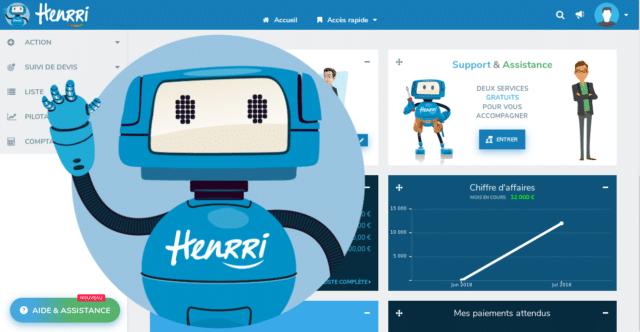 Henrri, logiciel de facturation gratuit à vie