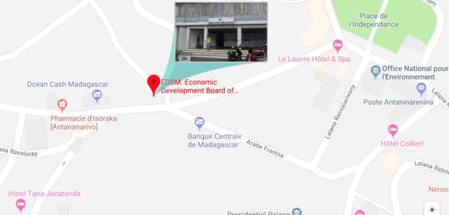 Plan d'accès à l'EDBM, Isoraka, Antananarivo