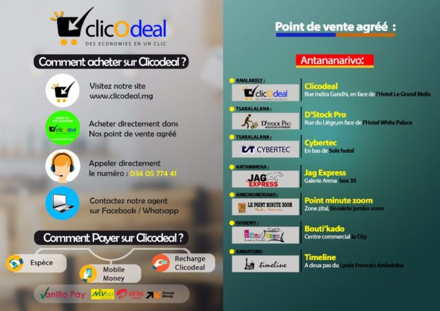 Les points de vente Clic o'Deal