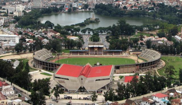 Le stade municipal de Mahamasina, Antananarivo