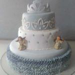 Un gâteau de baptême très angélique