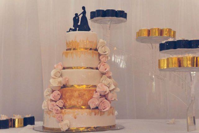 Un exemple de gâteau de mariage signé Cœur d'Amande