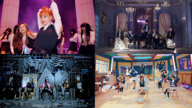 Des MV impressionnants : Blackpink « As if it is your last »; Big Bang « Fantastic Baby »; BTS « Blood, Sweat and Tears », et Twice « Signal »