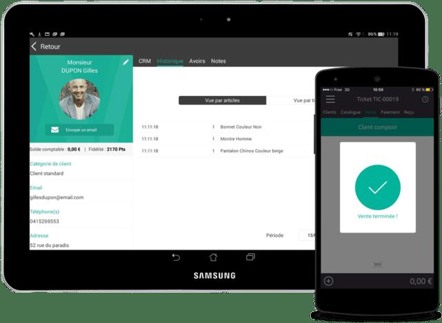 Rovercash est un logiciel de caisse pour système Android