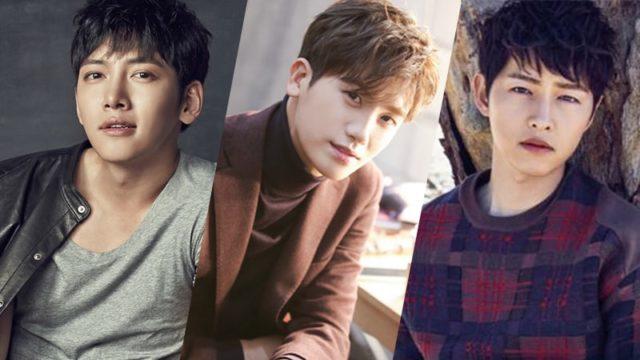 De célèbres acteurs coréens, de gauche à droite: Ji Chang Wook, Park Hyung Sik et Song Joon Ki