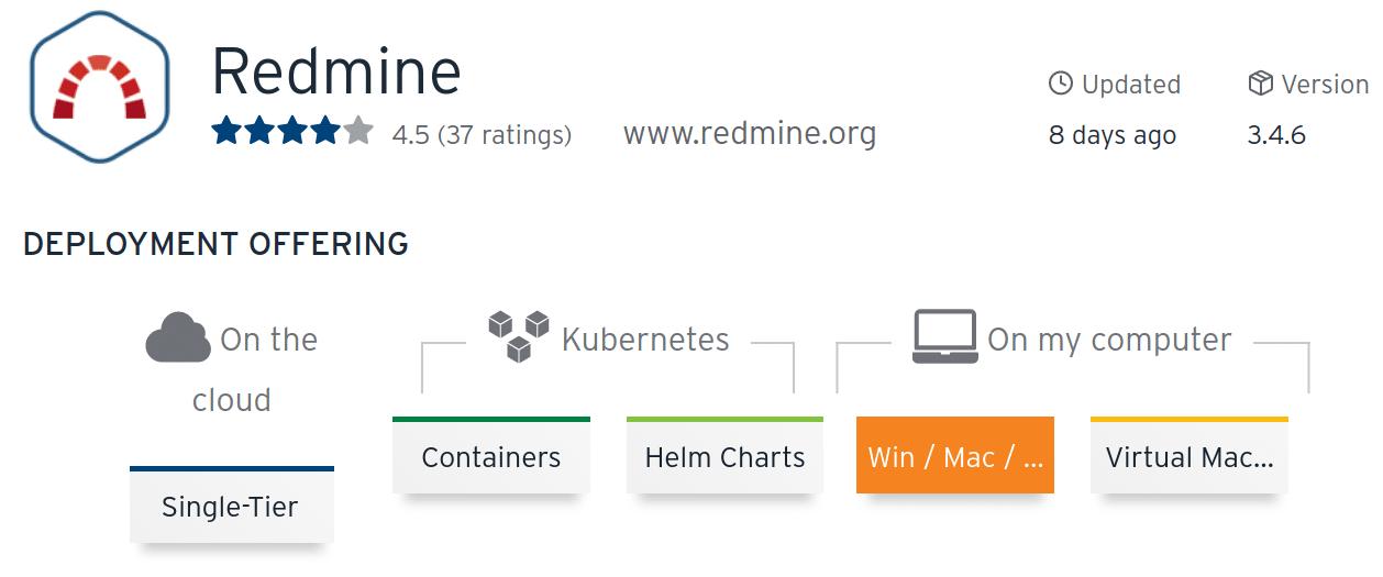 Bitnami Stack Redmine peut être installé sur un cloud, un Kubernetes, sur une VM, sur Windows, macOS ou encore Linux