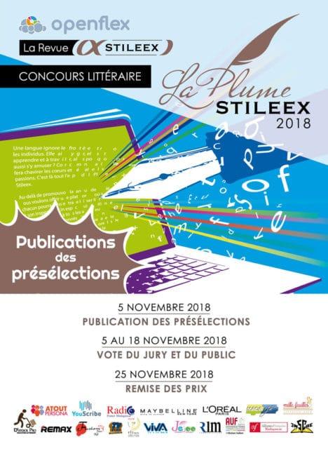 Des nouvelles du concours La Plume Stileex 2018