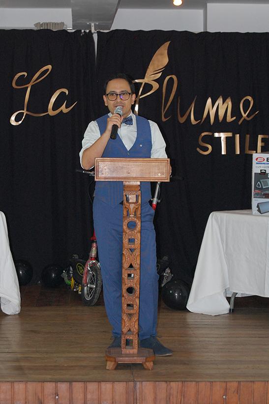 Simon Lee lors de son discours d'inauguration