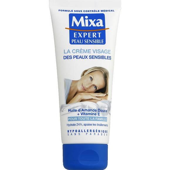 La crème pour le visage Mixa qui a servi de base de maquillage à Sitraka