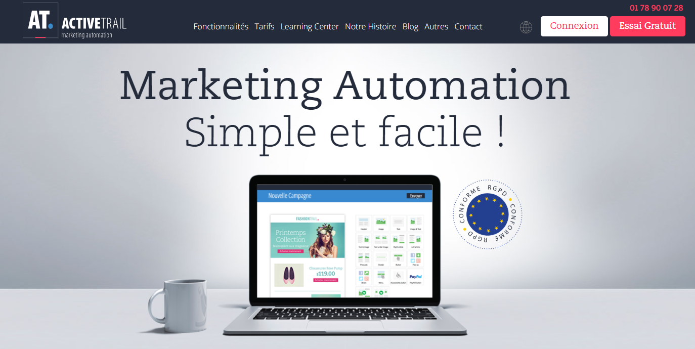 Activetrail, logiciel d'emailing