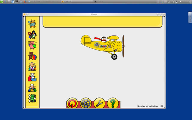 L'interface est attractive et facilite la prise en main par les petits enfants