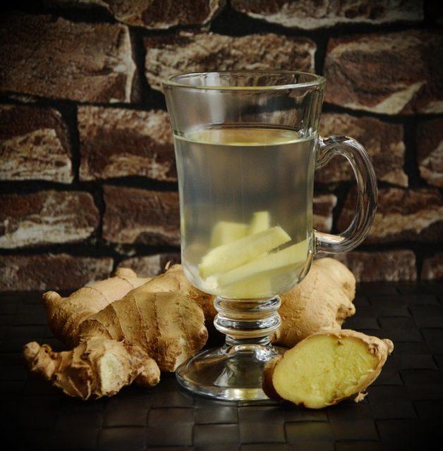 Du thé froid de gingembre