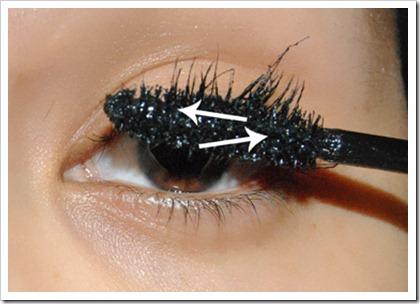 Voici comment appliquer un mascara en zigzag:)