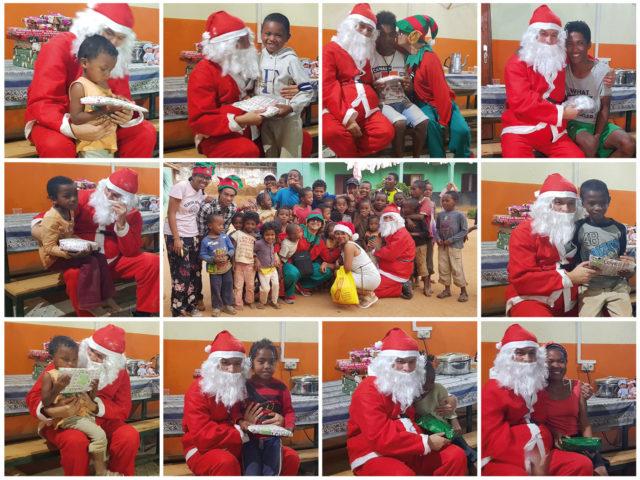 La remise des cadeaux, un moment riche en émotions tant pour nous que pour les enfants