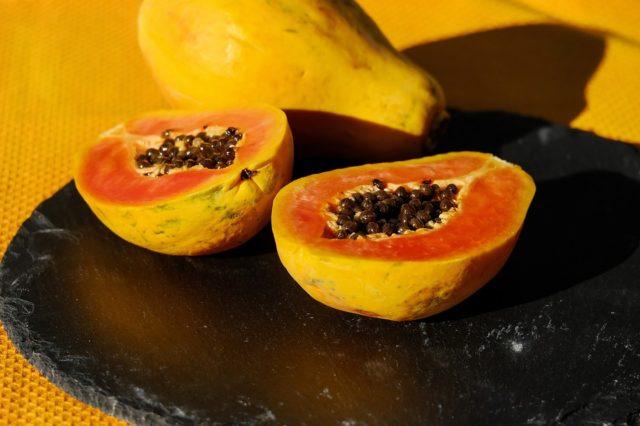 À Madagascar, la papaye est présente en grande quantité sur toute l'année