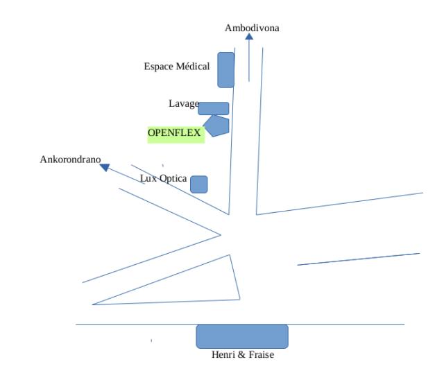 Le plan pour accéder à l'immeuble Openflex