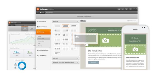 Sarbacane offre une solution multiplateformes pour gérer vos campagnes emailing