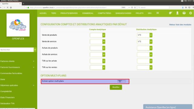 """Activez l'option """"multi-plans"""" dans configuration"""