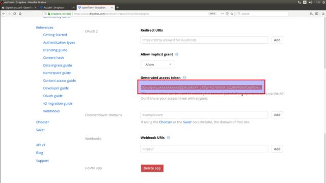 Vous avez maintenant une clé API généré, que nous allons coller dans la configuration de Openflex