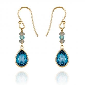 Des boucles d'oreilles de 340 € de la marque Perle de Lune de Belancy