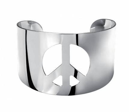 Manchette acier Peace and Love Arthys signé Bijou En Vogue, à 7,90 € au lieu de 15,90 €