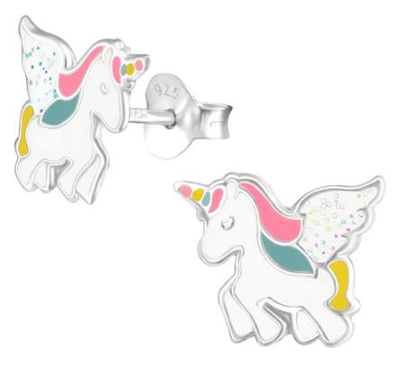 Ces boucles d'oreilles en argent 925 en forme de licorne font partie des nouveautés