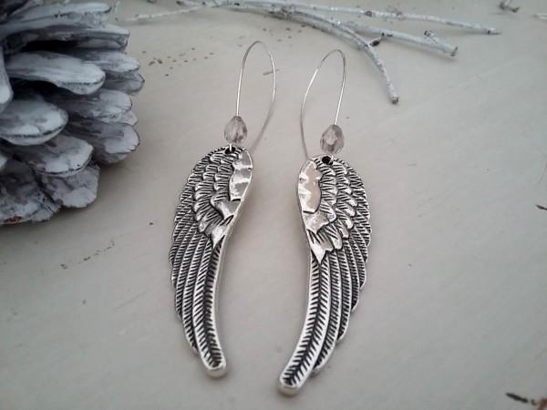 Boucles d'oreilles dormeuses aux ailes d'ange à seulement 9,95 €