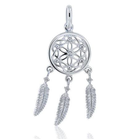 Un pendentif attrape-rêve: un magnifique bijou argent pas cher