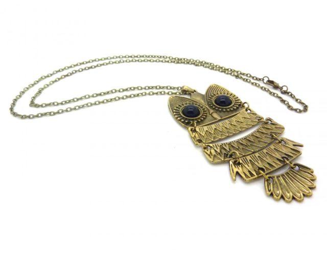 Parmi les meilleurs bijoux fantaisie pas cher, ce sautoir hiboux à 7,90 € se démarque du lot