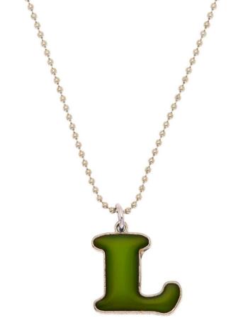 Un collier d'humeur à initiale «L» oversize