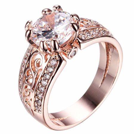 Cette bague en or rose de 10,99 € illustre bien les bijoux pour femme pas cher