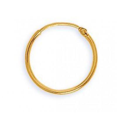 Comptez seulement 41 € pour ces boucles d'oreilles en or jaune de 18 carats