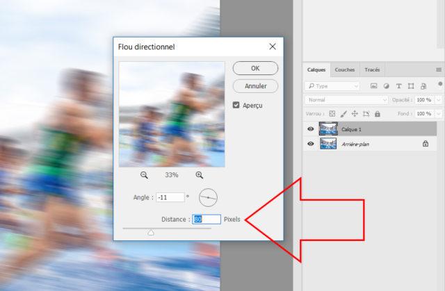 Plus les pixels sont importants, plus le flou sera intense