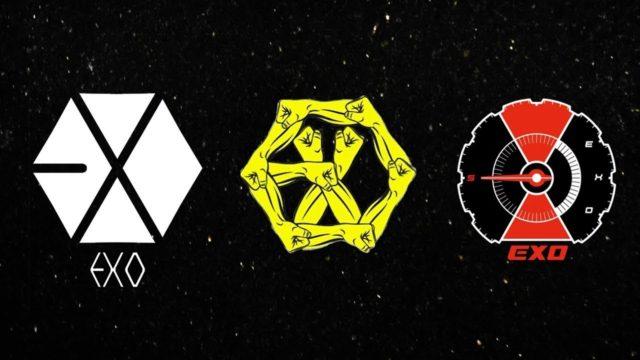 L'évolution du logo des EXO
