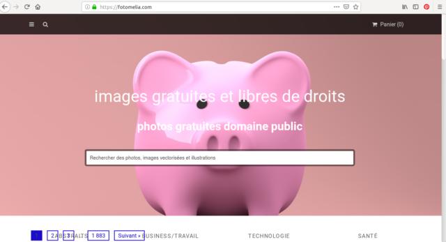 La page d'accueil de Fotomelia