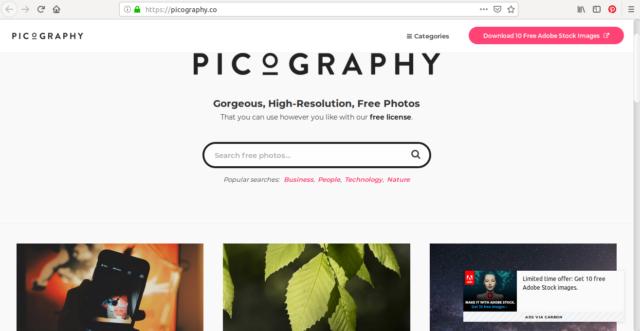 Sur Picography, vous pouvez aussi utiliser les hashtag pour vos recherches