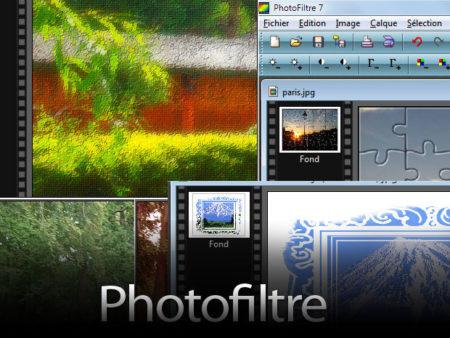Simple et organisé, Photofiltre convient aux débutants