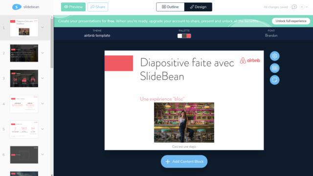 SlideBean, le WordPress 5 des logiciels de présentation en ligne!