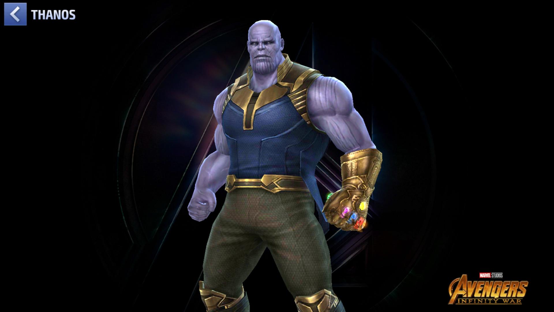 Le titan fou dans le jeu tel qu'il a été vu dans Avengers: Infinity war